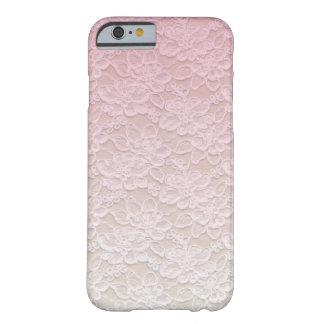 Caso de encaje rosado femenino del iPhone 6 del Funda De iPhone 6 Barely There