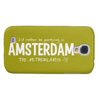 Caso de encargo de HTC del color de AMSTERDAM Funda Para Galaxy S4