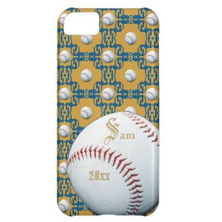 Caso de encargo de Iphone 5 del adorno del béisbol Funda Para iPhone 5C