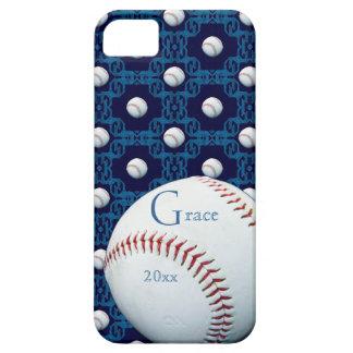 Caso de encargo de Iphone 5 del adorno del béisbol iPhone 5 Funda