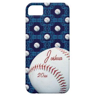 Caso de encargo de Iphone 5 del adorno del béisbol iPhone 5 Fundas