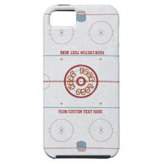 Caso de encargo de la pista del hockey iPhone 5 Case-Mate cárcasas