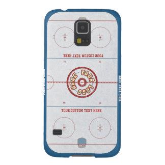 Caso de encargo de la pista del hockey funda de galaxy s5