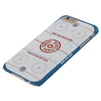 Caso de encargo de la pista del hockey funda para iPhone 6 plus barely there
