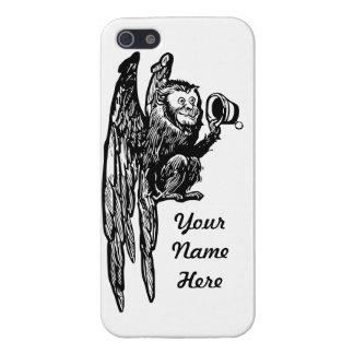Caso de encargo de mago de Oz del mono del vuelo I iPhone 5 Fundas