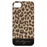 Caso de encargo del estampado leopardo del iPhone  iPhone 5 Case-Mate Protector
