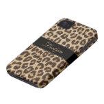 Caso de encargo del estampado leopardo del iPhone  Case-Mate iPhone 4 Carcasas