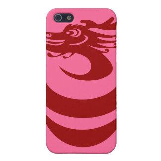 Caso de encargo del fondo IPhone4 del dragón rojo iPhone 5 Coberturas