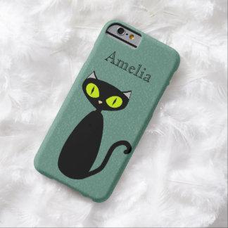 Caso de encargo del gato de la MOD del color Funda Para iPhone 6 Barely There