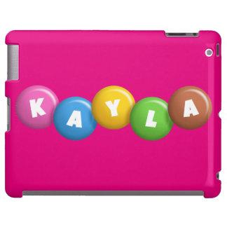 Caso de encargo del iPad 2/3/4 del monograma de Funda Para iPad