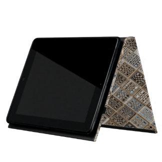 Caso de encargo del iPad de la sari de Brown azul iPad Fundas