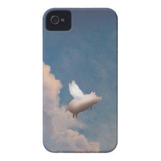 caso de encargo del iPhone 4 4S del cerdo del vuel Case-Mate iPhone 4 Carcasa