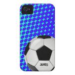 Caso de encargo del iPhone 4 del balón de fútbol Case-Mate iPhone 4 Cobertura