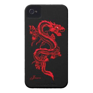 Caso de encargo del iPhone 4 del dragón rojo iPhone 4 Cobertura