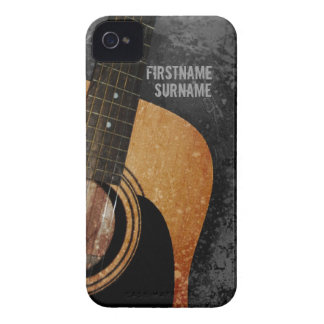 Caso de encargo del iPhone 4 del Grunge gris de la iPhone 4 Case-Mate Protectores