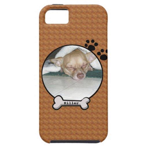 Caso de encargo del iPhone 5 de la foto del perro Funda Para iPhone SE/5/5s