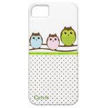 Caso de encargo del iPhone 5 de los búhos elegante iPhone 5 Case-Mate Protectores