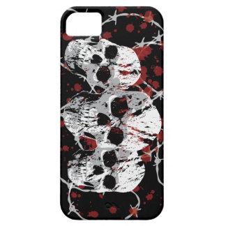 Caso de encargo del iphone 5 de los cráneos de púa iPhone 5 Case-Mate cárcasa