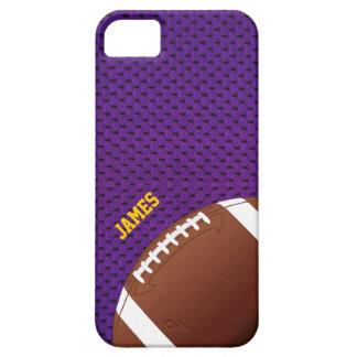 Caso de encargo del iPhone 5 del fútbol púrpura iPhone 5 Fundas