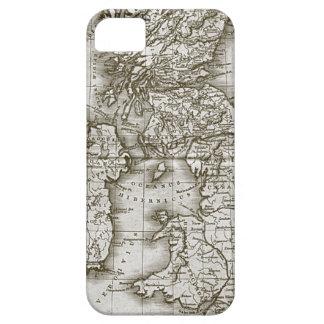 Caso de encargo del iphone 5 del mapa de la antigü iPhone 5 funda