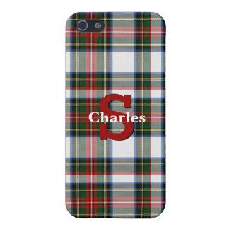 Caso de encargo del iPhone 5S de la tela escocesa iPhone 5 Fundas