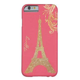 Caso de encargo del iPhone 6 de la torre Eiffel de Funda De iPhone 6 Barely There