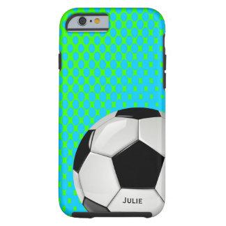Caso de encargo del iPhone 6 del balón de fútbol Funda Resistente iPhone 6