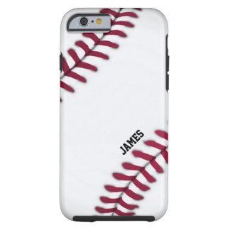Caso de encargo del iPhone 6 del béisbol Funda Resistente iPhone 6