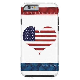 Caso de encargo del iPhone 6 del corazón Funda De iPhone 6 Shell
