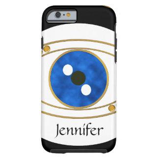 Caso de encargo del iPhone 6 del mal de ojo - azul Funda Para iPhone 6 Tough
