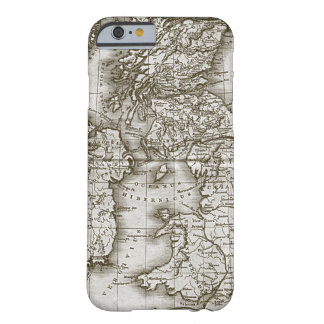 Caso de encargo del iPhone 6 del mapa de la Funda Para iPhone 6 Barely There