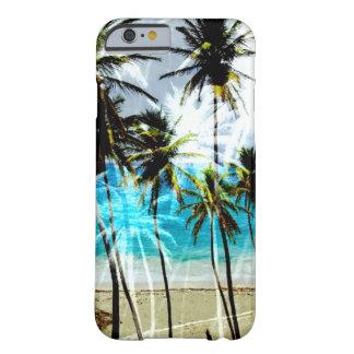 Caso de encargo del iPhone 6 del océano tropical Funda De iPhone 6 Barely There
