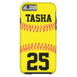 Caso de encargo del iPhone 6 del softball Funda De iPhone 6 Tough