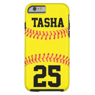 Caso de encargo del iPhone 6 del softball Funda Resistente iPhone 6