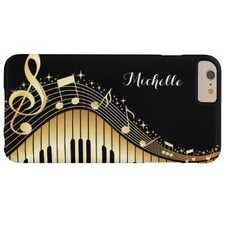 Caso de encargo del iPhone de las llaves del piano Funda Barely There iPhone 6 Plus