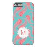 Caso de encargo del iPhone de las medusas del rosa Funda De iPhone 6 Barely There