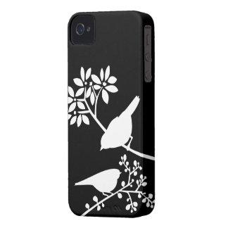 Caso de encargo del iPhone de los pájaros blancos iPhone 4 Carcasas