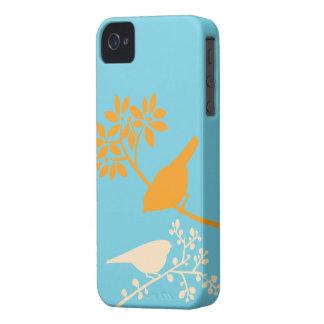 Caso de encargo del iPhone de los pájaros colorido iPhone 4 Cobertura