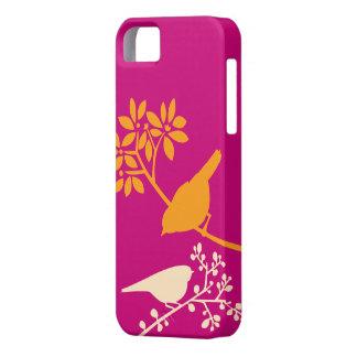 Caso de encargo del iPhone de los pájaros colorido iPhone 5 Case-Mate Protectores