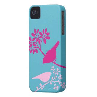 Caso de encargo del iPhone de los pájaros colorido iPhone 4 Cárcasa