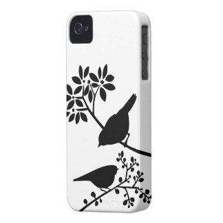 Caso de encargo del iPhone de los pájaros colorido Case-Mate iPhone 4 Protectores