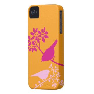 Caso de encargo del iPhone de los pájaros colorido Case-Mate iPhone 4 Cárcasa