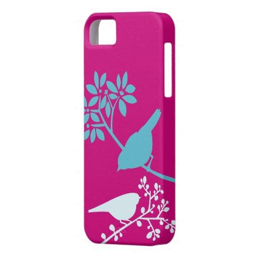 Caso de encargo del iPhone de los pájaros colorido iPhone 5 Case-Mate Coberturas