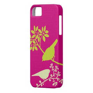 Caso de encargo del iPhone de los pájaros colorido iPhone 5 Case-Mate Funda