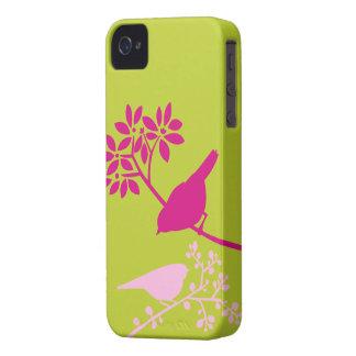 Caso de encargo del iPhone de los pájaros colorido Case-Mate iPhone 4 Carcasa