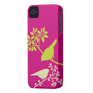 Caso de encargo del iPhone de los pájaros colorido iPhone 4 Case-Mate Carcasa