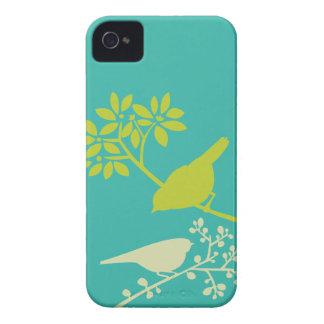 Caso de encargo del iPhone de los pájaros iPhone 4 Protectores