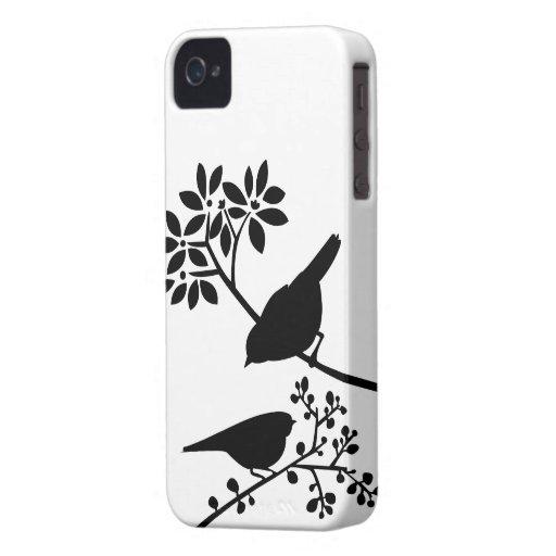 Caso de encargo del iPhone de los pájaros iPhone 4 Case-Mate Cárcasa