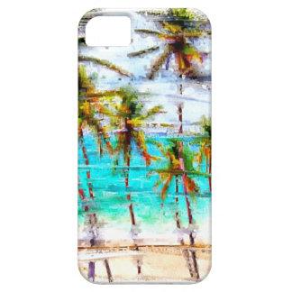 Caso de encargo del iPhone del océano tropical de iPhone 5 Funda