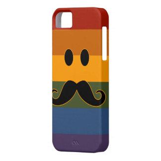 Caso de encargo del iPhone del orgullo del bigote Funda Para iPhone 5 Barely There